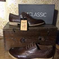 Продам мужские туфли 42 размера из натуральной кожи, в Санкт-Петербурге