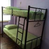 Кровати односпальные, двухъярусные на металлокаркасе, в Анапе