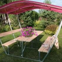 Новые садовые беседки со столиком и лавкой, в Усть-Кинельском