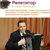 Репетитор баян/аккордеон теория музыки. свирель, в Санкт-Петербурге