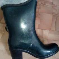 Сапоги резиновые, утепленные новые, на каблуке, размер:35-36, в Иванове