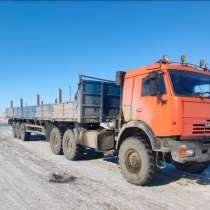 Камаз 44108-10 с полуприцепом с бортовой платформо, в Новом Уренгое