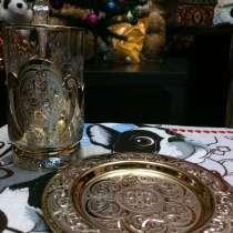 Позолоченный чайный набор, подарочный, в Златоусте