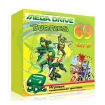 """Sega MegaDrive 2 """"Turtles"""" + 2 джоя + прoводa+зарядкa+69 игр, в Санкт-Петербурге"""