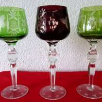 Три бокала. Хрусталь Фужеры.21 см Rоеmer. Вино, в г.Франкфурт-на-Майне