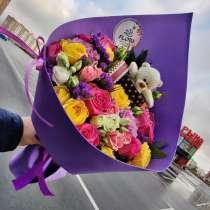 Цветы Липецк букет с игрушкой, в Липецке