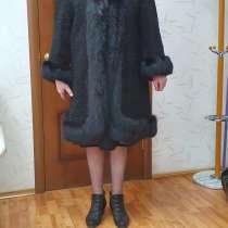 Полушубок черный размер 56 рост 175, в Жигулевске