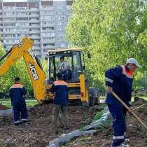 Озеленение, копка, благоустройство, разнорабочие, подсобники, в Москве