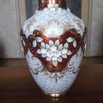 Ваза позолота, лепка рококо ручной работы. Богемское стекло, в Москве