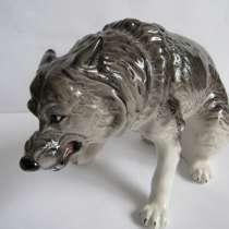 Волк фарфор статуэтка новая, в Москве