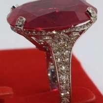 Эксклюзивное золотое кольцо с бриллиантами 2ct. 750 пробы, в Крымске