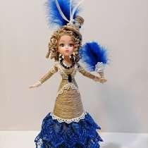 Кукла-шкатулка леди Мэри шпагатная (из джута), в Москве