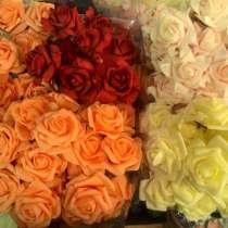 Роза брошь-заколка из латекса, в Москве