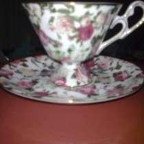 Чашка с блюдцем Royal Crown Англия высота чашки 8 см, в Химках