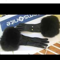 Перчатки новые Versace Италия кожа мех лиса песец высокие, в Москве