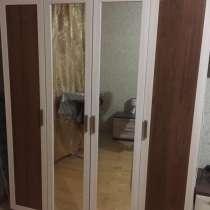 Шкаф распашной четырехстворчатый с зеркалами, в Москве
