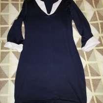 Отдам даром платье стрейч р. 42-44 цвет темно-синий, в Москве