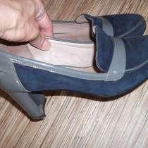 Туфли осенние натуральная замша -лак, не дорого, в Магнитогорске