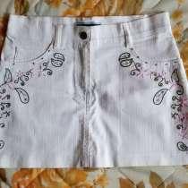 Юбка белая джинсовая (стрейч), новая, р.42-44, в г.Брест