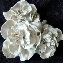 Великолепное-большеразмерные фарфоровые цветы. Подарки.Обжиг, в Красноярске