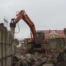Аренда экскаватора, демонтаж, снос, рытьё, в Новосибирске