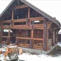 Дом из оцилиндрованного бревна 82 кв. м, в Екатеринбурге