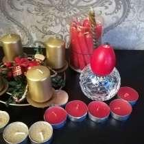 Подсвечники со свечами разных размеров и расцветок, в г.Минск