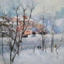 Снежная зима / Картина маслом, в Нижнем Новгороде