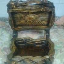 Ларец из дерева с искусственным старением ручной работы, в Ярославле