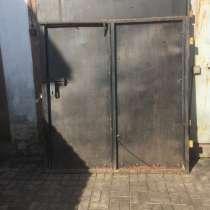 Ворота метал 2мм с калиткой.С петлями для крепления к столба, в г.Минск
