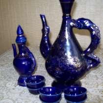 Продам б\у сувенирный набор МНР, ваза цветного стекла Медуза, в Кисловодске