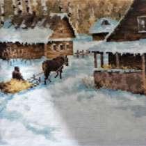 Картина вышивка крестиком ручная работа, в Железногорске