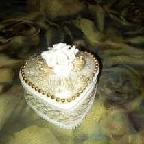 Фарфоровая шкатулка с розочками, в г.Витебск