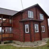 Новый двухэтажный дом из бруса с отделкой и коммуникациями, в Сергиевом Посаде