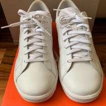 Низкие кожаные кроссовки белого цвета Nike Blazer, в Зеленограде