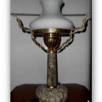 Настольная Лампа.Мрамор.Латунь. 1950х., в Иванове