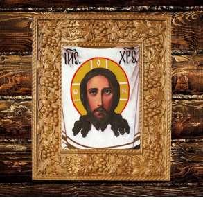 Икона Спас Нерукотворный Иисуса Христа. Ручная работа, в Москве