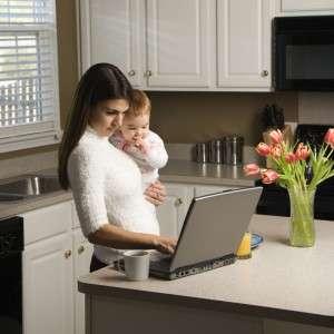 Работа на дому для мам в декрете и не только