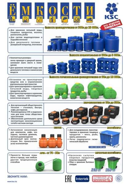 Емкость из пищевого пластика от 50 л. до 25 000 л