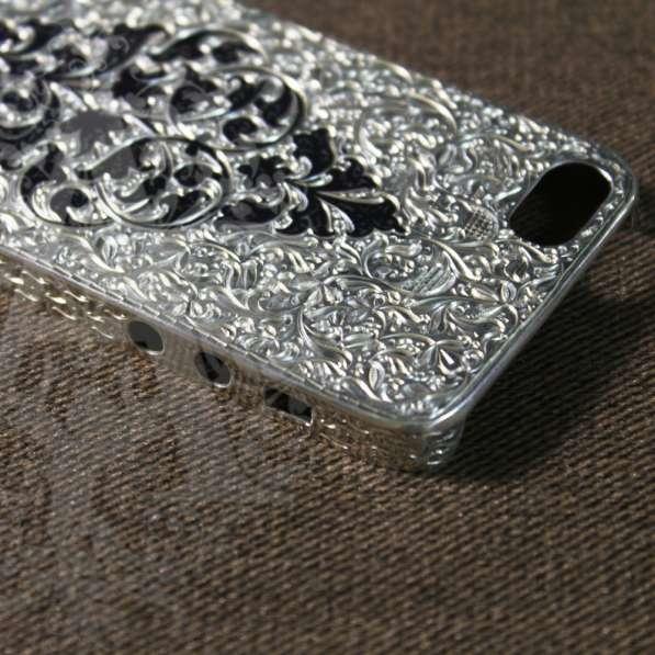 Серебряный корпус для IPhone ручной работы