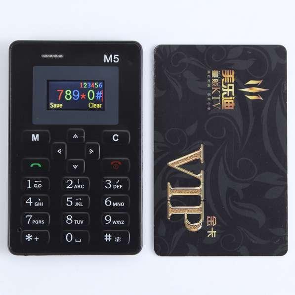 Мини мобильный телефон AIEK M5 с кредитную карточку