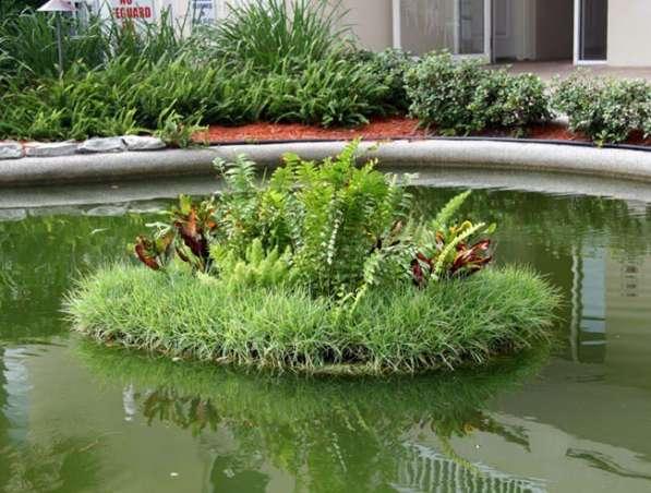 Создание естественных водоемов Плавающие Клумбы Био-Фильтры