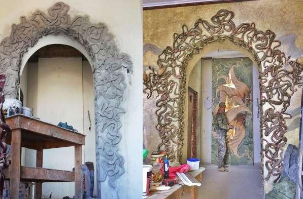 Ручная лепнина, барельеф, декор стен в Сергиевом Посаде фото 8