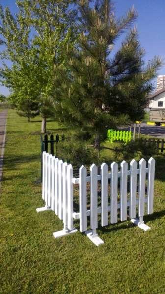 Забор декоративный, пластиковый, секция 112*75 мм