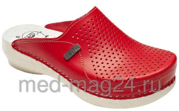 Обувь женская сабо Леон PU115,красные