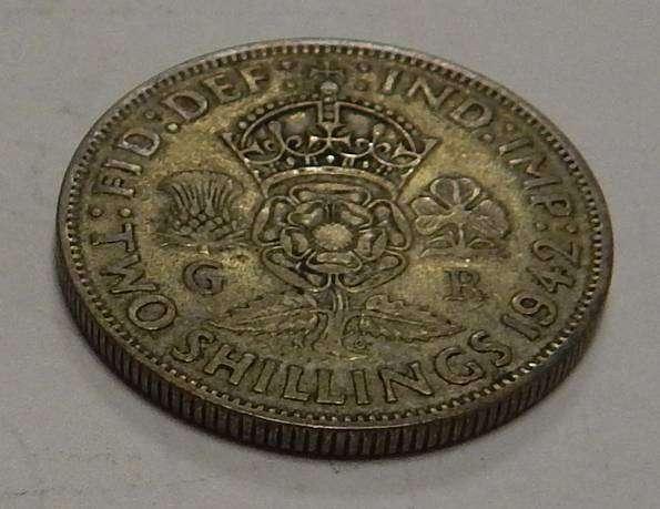 2 шиллинга 1942г. Великобритания. Серебро