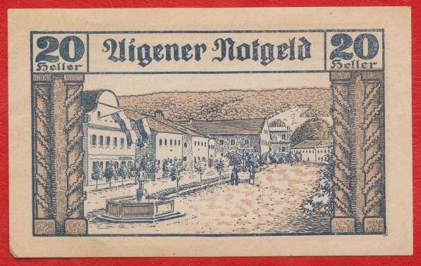 Австрия Айген нотгельд 20 геллеров 1920 г