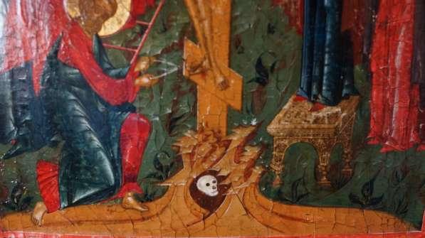 Старинный храмовый образ «Снятие с креста». Россия, XIX век в Санкт-Петербурге фото 6