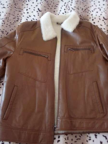 Кожанная куртка на меху в Югорске фото 3