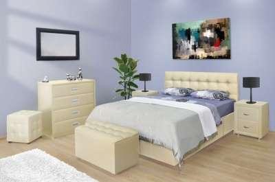 Кровати из экокожи и ткани